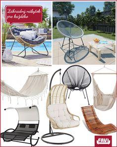 Kreslá, lehátka, hojdačky aj ďalší záhradný nábytok si vyberiete na FAVI.sk Corfu, Tenerife, Antalya, Outdoor Furniture, Outdoor Decor, Hanging Chair, Sun Lounger, Pergola, House Design