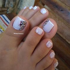 115 pretty nails light up on your fingertips to give you a cool summer 41 Blue Nail Designs, Pedicure Designs, Pedicure Nail Art, Manicure And Pedicure, Toe Nail Color, Toe Nail Art, Nail Colors, Pretty Toe Nails, Cute Toe Nails