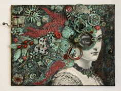 Untitled, mixed media assemblage by Anastasia Osolin