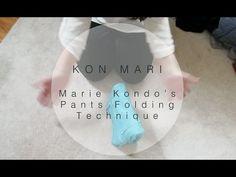 Kon Mari | How to Fold Pants in the Marie Kondo Way | Sarah Sky - YouTube