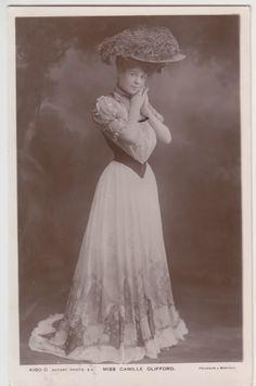 4. The Edwardian Period and World War I: Combination Dress, Standing Collar, Corset, Trumpet Flare Skirt