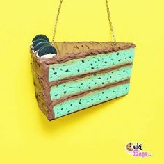 Here it is This Piece of cake is a Custom handmade = Handmade Purses, Piece Of Cakes, Mint Chocolate, Color Photography, Mint Oreo, Oreos, Flat Lay, Amazing, Instagram Posts