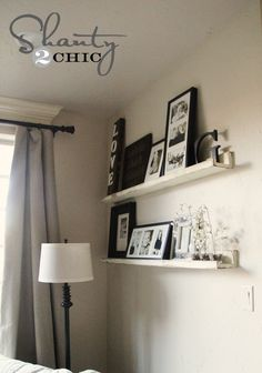 DIY Picture Ledge... So cheap and easy! @Shanti Paul Leeuwen Yell-2-Chic.com