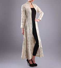 Ivory Embroidered #ChanderiJacket