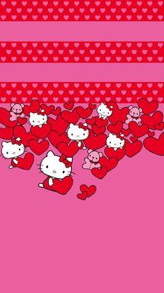 Hello Kitty Hearts iPhone 5 Wallpaper