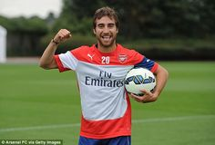 Pleased to be here: Mathieu Flamini looks raring to go after the summer break