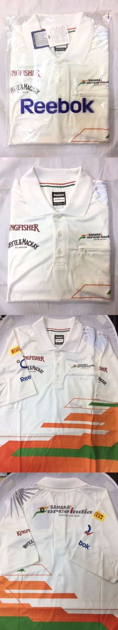 Racing-Formula 1 2876: Formula 1 Force India F1 Team Reebok Polo Shirt White -> BUY IT NOW ONLY: $39 on eBay!