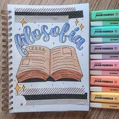 Bullet Journal Tracker, Bullet Journal Notes, Bullet Journal School, Bullet Journal Ideas Pages, Notebook Art, Notebook Covers, Schrift Design, School Notebooks, Pretty Notes