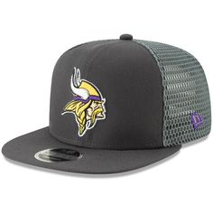 9ee425f4f1a Men s Minnesota Vikings New Era Graphite Mesh Fresh 9FIFTY Adjustable  Snapback Hat