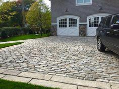 Reclaimed Jumbo cobblestone driveway.