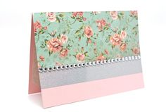 $5.00 Pink Sparkle Card Paper Handmade Greeting by AmeliaRyCreations