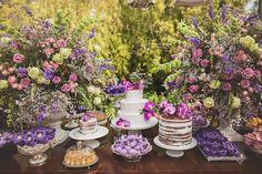 Casamento   Flores   Rosa   Roxo   Bolo   Decoração   Flowers   Wedding   Cake