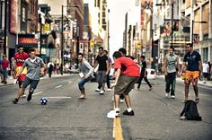 playing street soccer - Tìm với Google