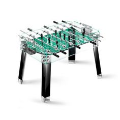 $11k FOOSBALL TABLE?? Contropiede Foosball Tbl Blk Grn now featured on Fab.