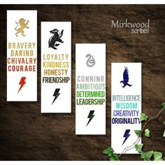 Hogwarts House Virtues Printable Bookmarks ❤ Liked On pertaining to Harry Potter House Bookmarks Printable Carte Harry Potter, Harry Potter Motto Party, Cadeau Harry Potter, Harry Potter Fiesta, Harry Potter Bricolage, Harry Potter Thema, Deco Harry Potter, Harry Potter Bookmark, Harry Potter Classroom