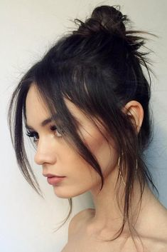 36 simple and sweet hairstyles for medium-length hair - Hair Styles Sweet Hairstyles, Cute Hairstyles For Medium Hair, Cute Simple Hairstyles, Medium Hair Styles, Curly Hair Styles, Long Fringe Hairstyles, Wedding Hairstyles, Hair Medium, Model Hairstyles