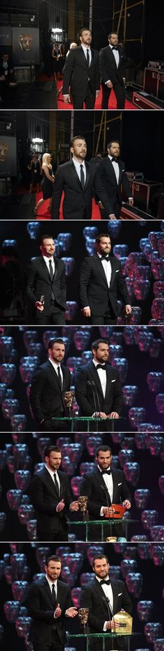 Chris Evans & Henry Cavill SO Much sexy in one place!