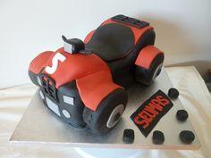 Quad cake | Mairi Mackenzie | Flickr 2nd Birthday, Birthday Parties, Bike Cakes, Quad Bike, Coffee Cake, Cake Decorating, Crafts For Kids, Projects, Cake Stands