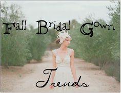 Fall wedding dress trends.