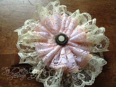 Easy 3-layer lace flower.  Tutorial.