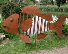 Alan Ross, The Fish, Steel, Unique, Signed.  Being offered in our timed auction on 17 June 2014, lot 2 - estimate £2000-£4000