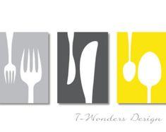yellow, black, white and gray kitchen - Google Search