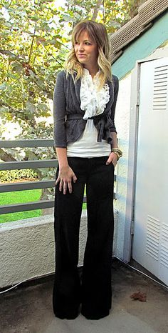cute for work #cardigan #blouse #pants