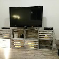 Image result for tv stand made from crates