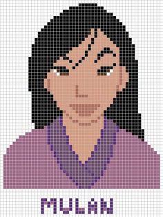 Character Disney Pattern Perler Hama Bead Designs | Mulan Disney hama perler beads pattern by Santian69 ... | Xstitch
