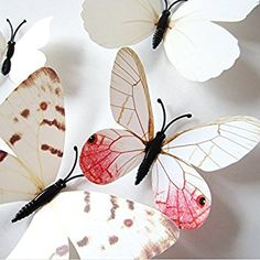 Amazon.com: Amaonm 24pcs 3d Vivid Special Man-made Lively Butterfly Art DIY Decor Wall Stickers Decals Nursery Decoration, Bathroom Décor, Office Décor, 3d Wall Art, 3d Crafts for Wall Art Kids Room Bedroom: Home Improvement