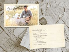 Wedding Save The Date Cards HeathrowPark Vintage by FifthVintage