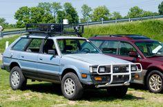 Jacked-up Subaru