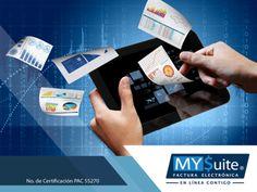 COMPROBANTE FISCAL DIGITAL. Los sistemas de facturación electrónica, ayudan a agilizar los aspectos relacionados a la administración de una empresa o negocio, como es el rastrear las facturas de una forma más rápida y segura. Además, permiten ahorrar espacio, puesto que ya no es necesario tener mobiliarios repletos de papel. En MYSuite, le invitamos a visitar nuestra página en internet http://www.mysuitemex.com/, para conocer nuestra amplia gama de servicios.  #facturación