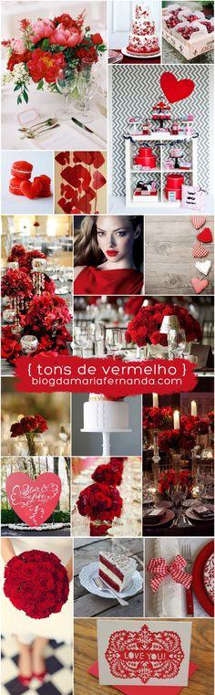 Decoração de Casamento : Paleta de Cores Vermelho