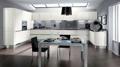 Light and fresh kitchen design. Modern Kitchen Interiors, Modern Kitchen Cabinets, New Kitchen, Interior Design Photos, Interior Design Kitchen, Kitchen Designs, Scavolini Kitchens, Toronto, Muebles Living