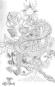 Dragon Koi Fish Tattoo Design By DesignsByKyalDearing On DeviantART