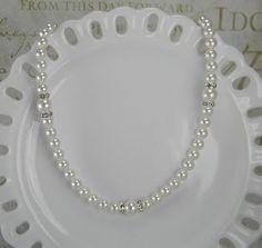 Bridal Necklace Wedding Necklace Swarovski by BridalTreasures4U, $44.00