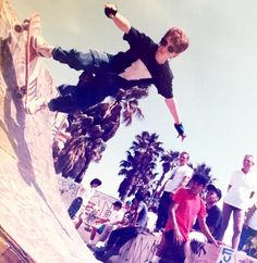 Seth Green: #TBT That time I rode the quarter pipe at Venice beach & met @ChristianHosoi 's dad.