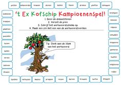 't Ex Kofschip Kampioenenspel! Leuk om aan te leren hoe leerlingen werkwoorden in de t.t. en v.t moeten schrijven. Foreign Language Teaching, Dutch Language, Speech Language Therapy, Speech And Language, School Hacks, Primary School, Kids Education, Fun Learning, Learn English
