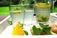 ZDROWA DOMOWA LEMONIADA - Smakoterapia Lemonade, Cantaloupe, Liquor, Juice, Food And Drink, Fruit, Cooking, Tableware, Recipes