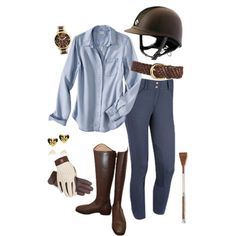 Chambray and Brown
