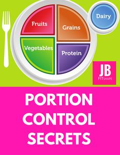 Portion Control- great weight loss tip.