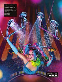 Mẫu quảng cáo cho vòi sen cầm tay Flipside.