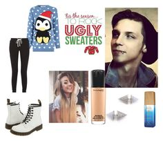 """""""ugly Christmas party with Andy (.my dream .bf)"""" by motionless-658 ❤ liked on Polyvore featuring beauty, Glamorous, James Perse, Eddie Borgo, MAC Cosmetics, Alterna and Dr. Martens"""