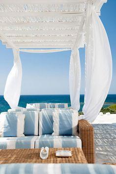 Balmy Breezes in Melian Boutique Hotel and Spa, Pollonia, Milos, Greece #seabreeze #milos #greekislands