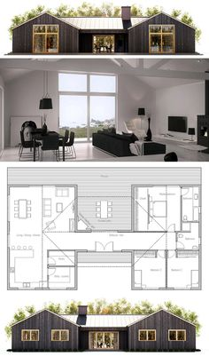Container House - Container House - Small House Plan - Who Else Wants Simple Step-By-Step Plans To Design And Build A Container Home From Scratch? - Who Else Wants Simple Step-By-Step Plans To Design And Build A Container Home From Scratch? Shipping Container House Plans, Shipping Containers, Casas Containers, Building A Container Home, Small House Plans, Cabin House Plans, Bungalow Cottage House Plans, Rectangle House Plans, Dog Trot House Plans