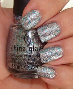 love the pop of turquoise (China Glaze Lorelei's Tiara)