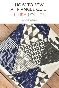 Triangle Quilt Tutorial - Triangle Quilt - How To Cut and Sew Equilateral Triangle Quilts - Lindy J Quilts