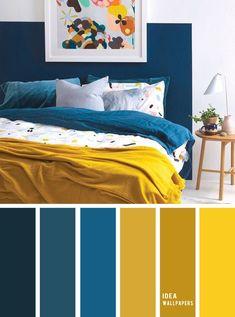 Bedroom Colour Palette, Bedroom Colors, Blue Colour Palette, Color Schemes Colour Palettes, Modern Color Palette, Blue Bedroom, Home Decor Bedroom, Bedroom Ideas, Bedroom Corner