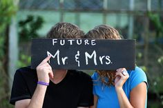 """""""Future Mr & Mrs"""" Save The Date Picture (with our pictures)"""
